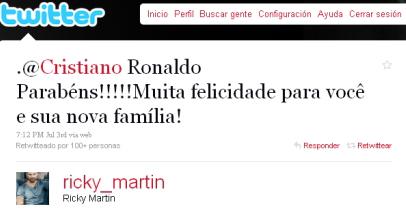 Felicitacion Ricky Martin