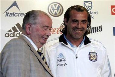 Sergio Daniel Batista y Julio Grondona