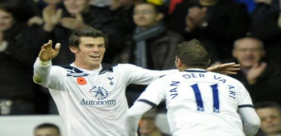 Gareth Bale y Rafael Van der Vaart