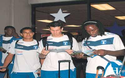 Seleccionados llegando a Panama
