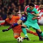 Gijón, cortó racha ganadora del Barça