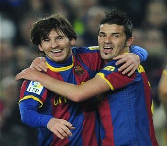 Leonel Messi David Villa