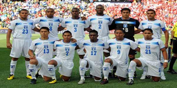 Honduras posado contra Chile
