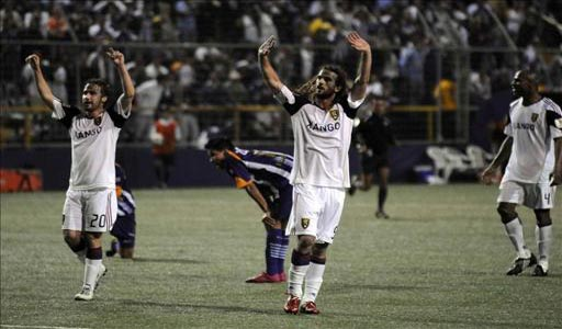 Celebracion Jugadores Real Salt Lake ante Saprissa