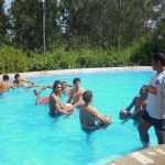 Panamá se relajó en la piscina, pensando en Honduras