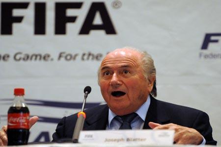Joseph Blatter en Honduras