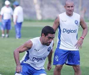 Eliseo Quintanilla y Dennis Alas Selección salvadoreña