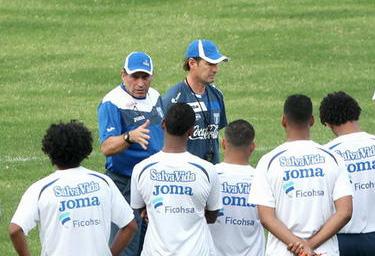 Entrenamiento uno Luis F Suarez con Honduras