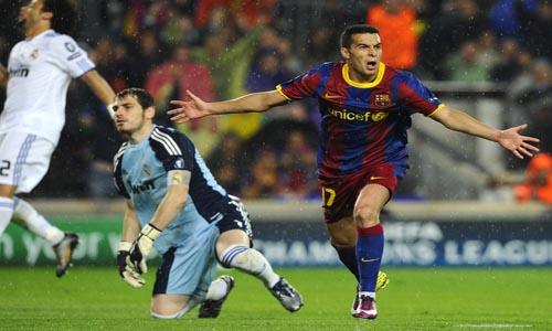 Gol Pedro Barcelona ante el Real Madrid