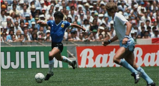 Gol Maradona contra Inglaterra Mexico 1986