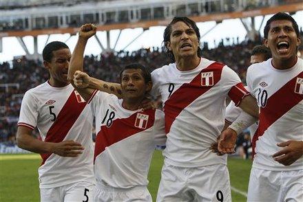 Celebración Perú ante Venezuela