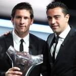 Xavi, Messi y Cristiano candidatos al Balòn de Oro