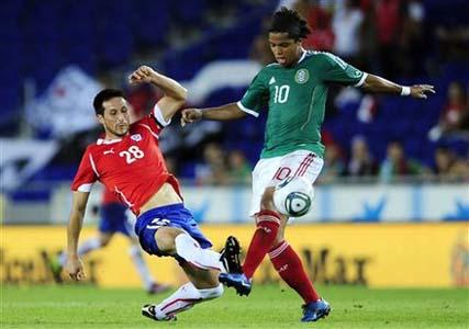 Gio Do Santos y Cristian Vilches de Chile