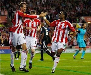 Petr Crouch. del Stoke City anotó el empate