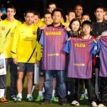 El Barça muestra su lado solidario en Fukushima