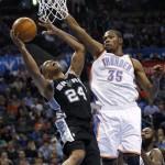 Kevin Durant imparable en triunfo de Oklahoma sobre los Spurs