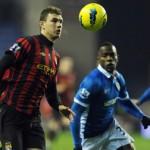 Manchester City recupera la punta a costa del Wigan