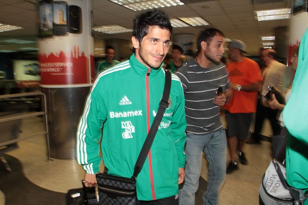 Damian Alvarez  a su llegada a Miami