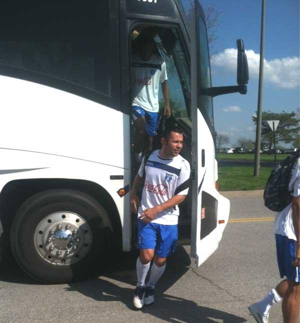 Alfredo Mejía antes de la lesión en Kansas