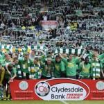 Emilio Izaguirre celebra el campeonato 43 de Celtic