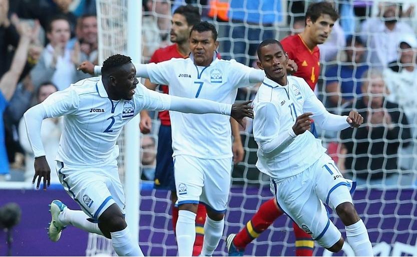 Honduras Espana celebracion gol