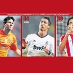 Messi, Ronaldo y Falcao a un ritmo endemoniado…