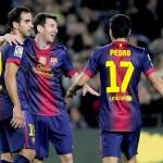 Messi hace ser más líder al Barcelona con un doblete