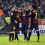 Messi desactiva a un buen Córdoba