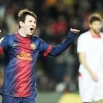 Messi anota su gol 38 en la Liga 2012/13