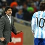 Maradona sueña con dirigir a Messi en el Barça