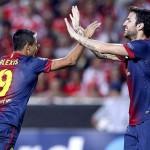 Barcelona está goleando al Mallorca