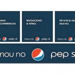 """Polémica publicidad """"Mou no, Pep si"""""""