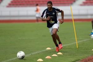 Alvaro Saborio entrenó el miércoles por primera vez