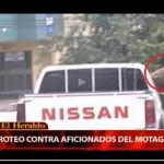 ((Video)): Ayuda a identificar e vehículo de donde dispararon a aficionados del Motagua