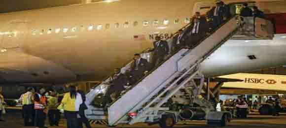 Aterrizan en Porto Alegre