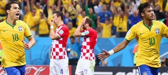 Neymar anotó dos goles contra Croacia