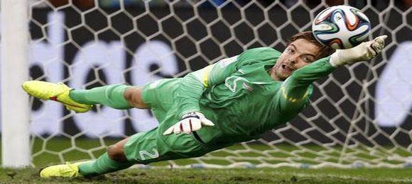 Arquero Tim Krul contra Costa Rica