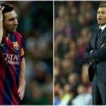 Leo Messi  y su entrenador Luis Enrique en malas relaciones