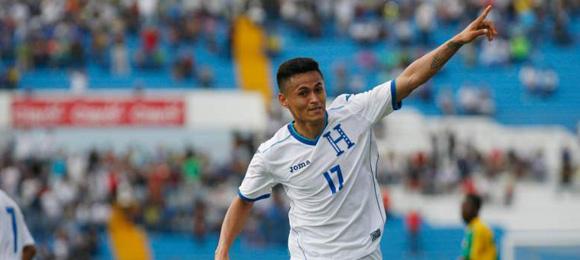 Andy Najar anoto dos goles en el triunfo de Honduras 3-0 sobre Guayana Francesa