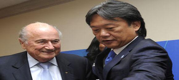 Eduardo Li con Blatter