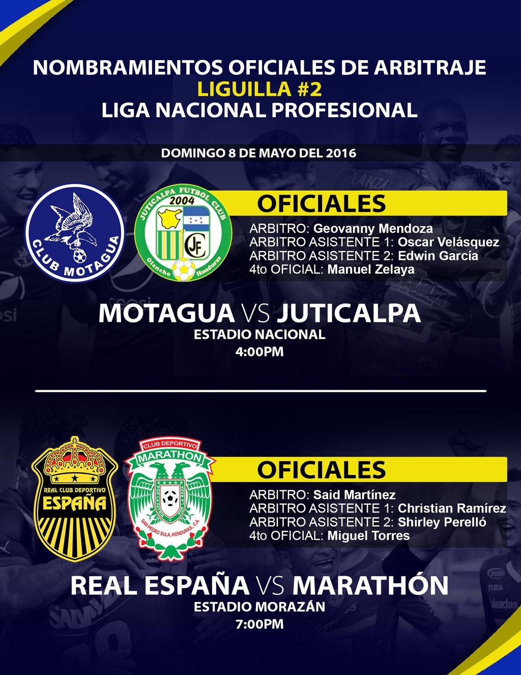 Clausura 2016 árbitros partido de vuelta repechaje 8 de Mayo 2016