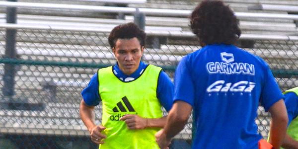 El internacional hondureño Julio César de León realizó el martes su primer entrenamiento con el Miami FC.