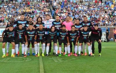 Miami United del hondureño Julio de León quedó eliminado el domingo de la pelea por el titulo regional de la NPSL. (Foto cortesía Miami United)