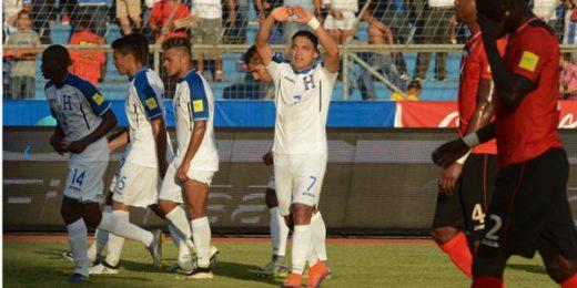 Emilio Izaguirre anotó su primer gol en las eliminatorias al mundial en el triunfo sobre Trinidad y Tobago