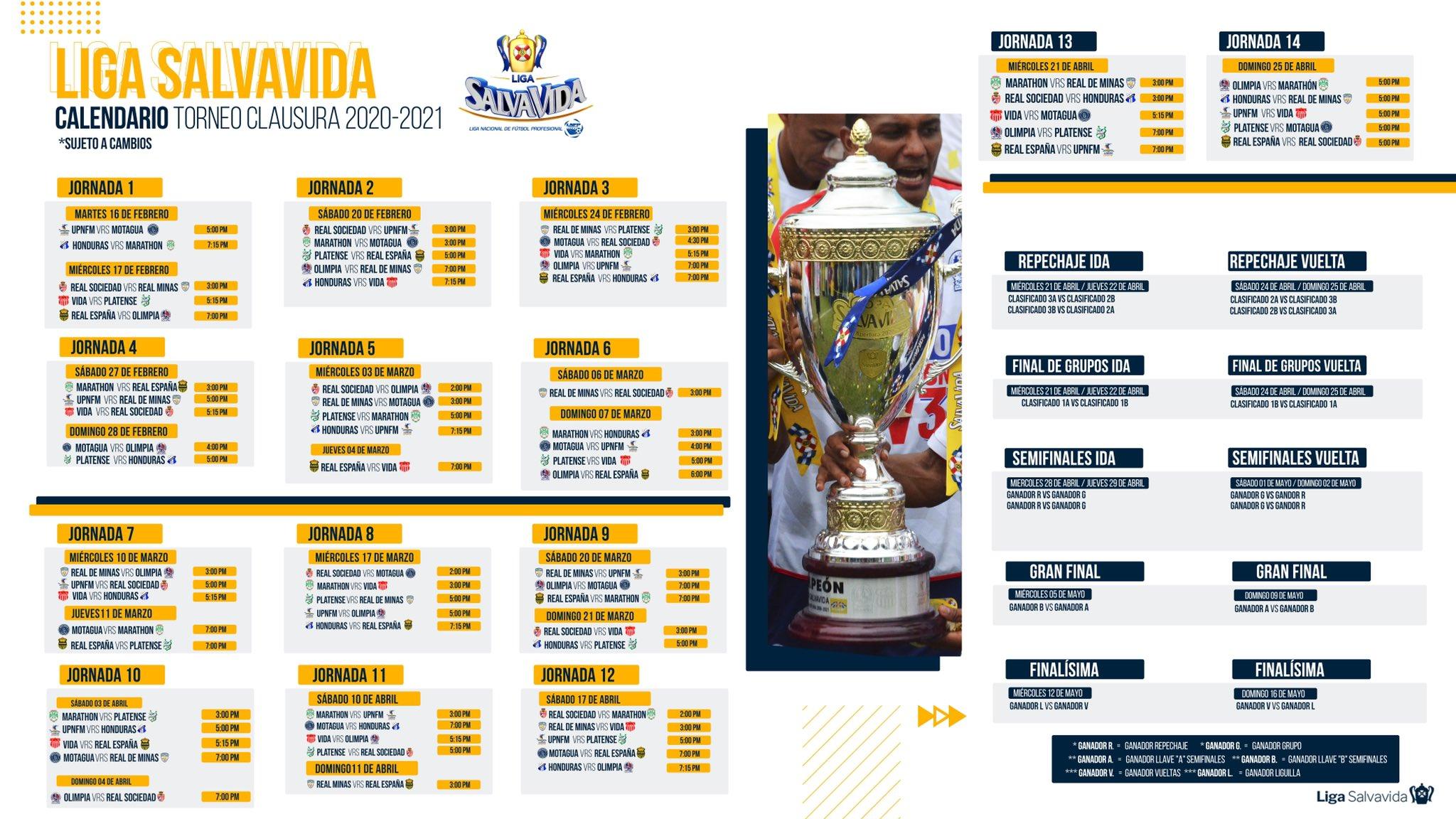 Calendario CLA 2021