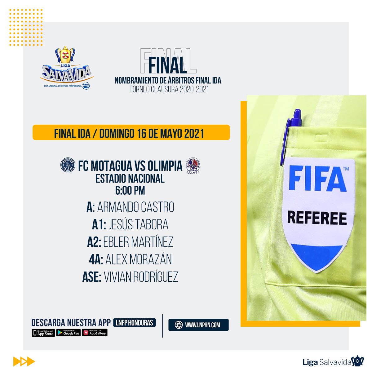 Arbitros final Ida Clausura 2021