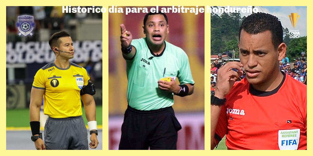 Arbitros hondureños Copa Oro